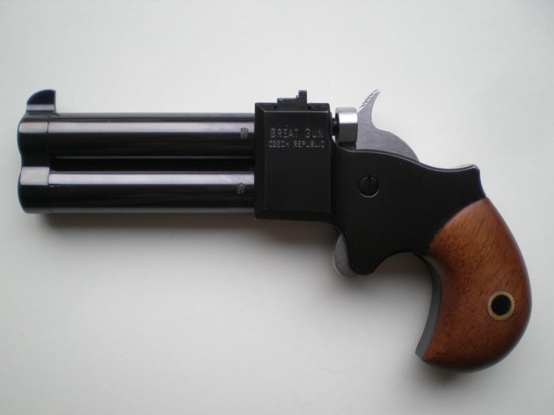 Derringer 9 mm 2,5 palce černěný, kohout a spoušť v tvrdochromu